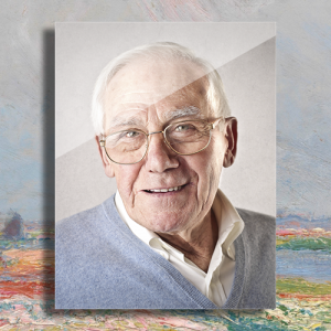 Aluminium portret gedenkteken