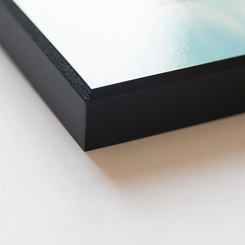 Fotopaneel van hout met facetrand