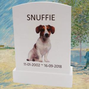 Huisdier Gedenksteentje met foto en tekst