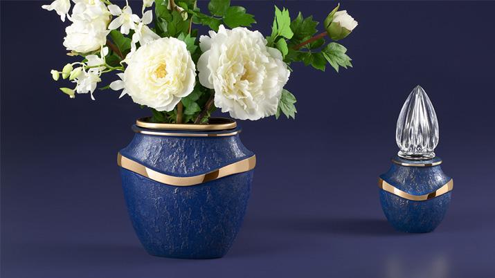 Blauw bloemvaas