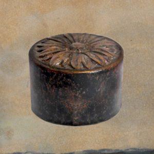 Mini urn brons met bloem