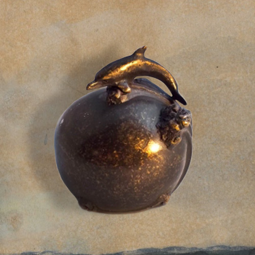 Minu urn met dolfijn