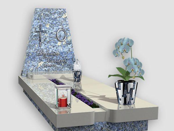 Voorbeeld grafmonument met decoratie