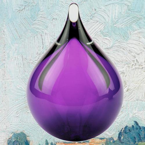 Mi8ni urn glas traan paars