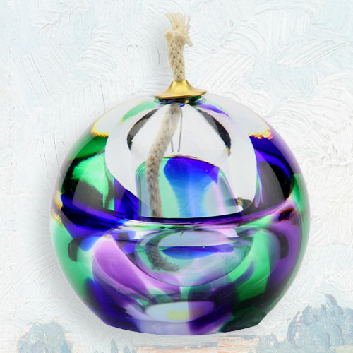 Olielamp minu urn paars groen blauw