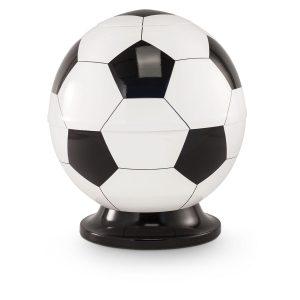 Voetbal urn met de kleur zwart / wit