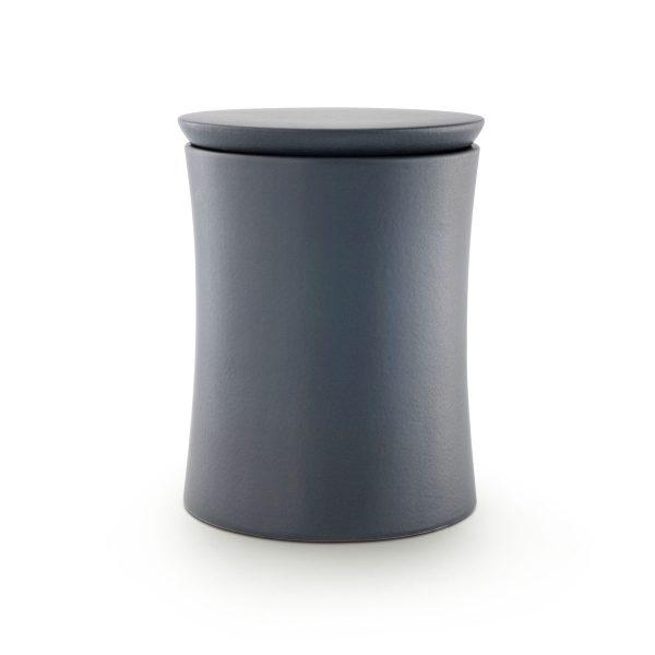 Urn minimalistic zwart grijs van porselein