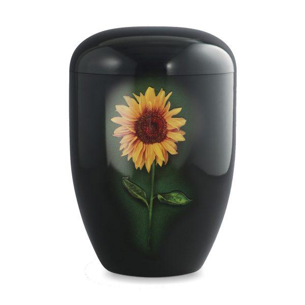 Zwart Biologische urn zonnebloem