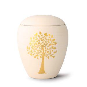 Urn porselein met gouden boom