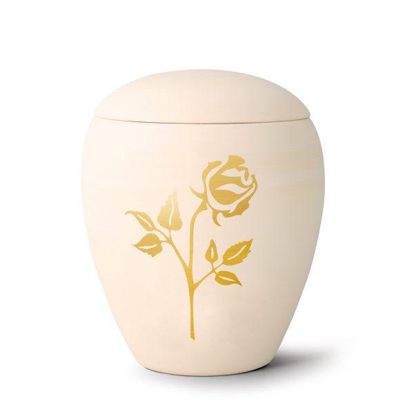 Urn porselein met gouden bloem roos