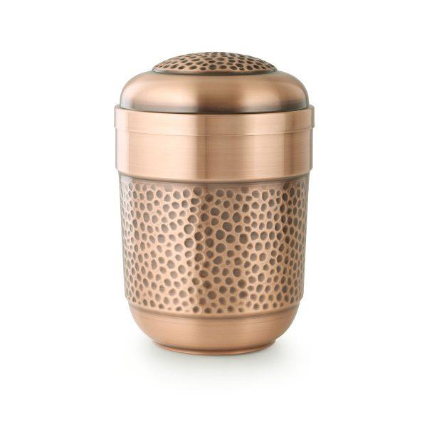 Urn koper kleur met honing structuur gemaakt van koper