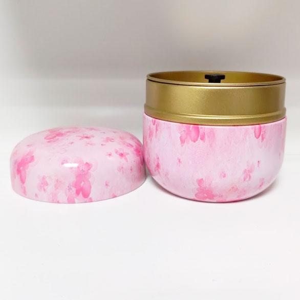 Mini Urn Aluminium Roze Bloemen Deksel Voor As