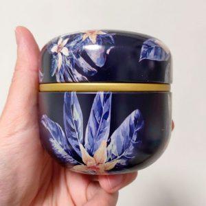 Mini Urn Aluminium Zwart Bloemen Potje Voor As Bewaasdoos