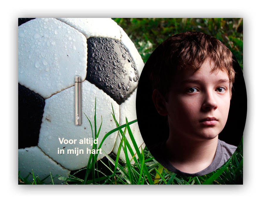 Mini Urn Foto Voetbal Hobby