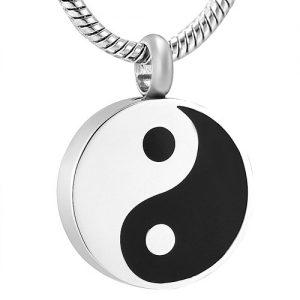 Ashanger Yin Yang Zwart Wit Rvs
