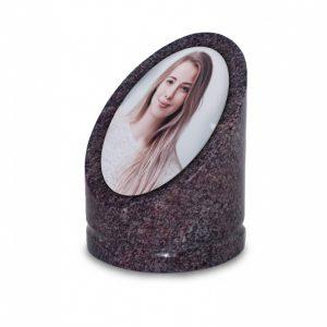 Granieten Sokkel Met Foto Grafsteen