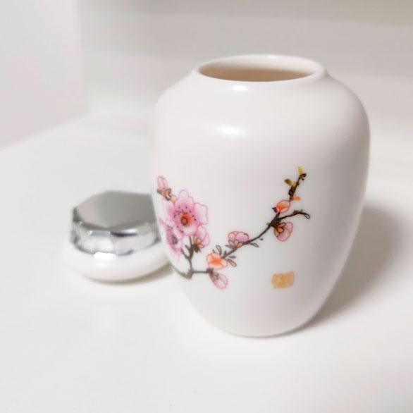 Kleine Mini Urn Van Keramiek Potje Voor As Met Bloemen