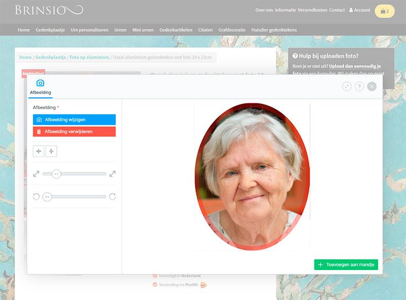 Online Foto Personaliseren Voor Grafsteen