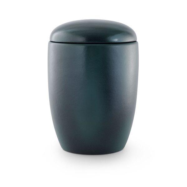 Urn Keramiek Blauw Groen Vaasvorm Eenvoudig