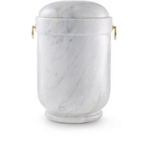 Urn Natuursteen Met Ringen Wit Grijs