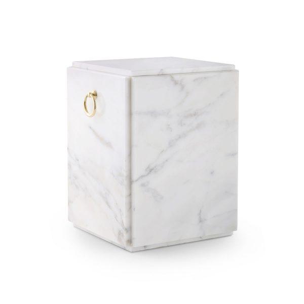 Urn Natuursteen Wit Rechthoekig
